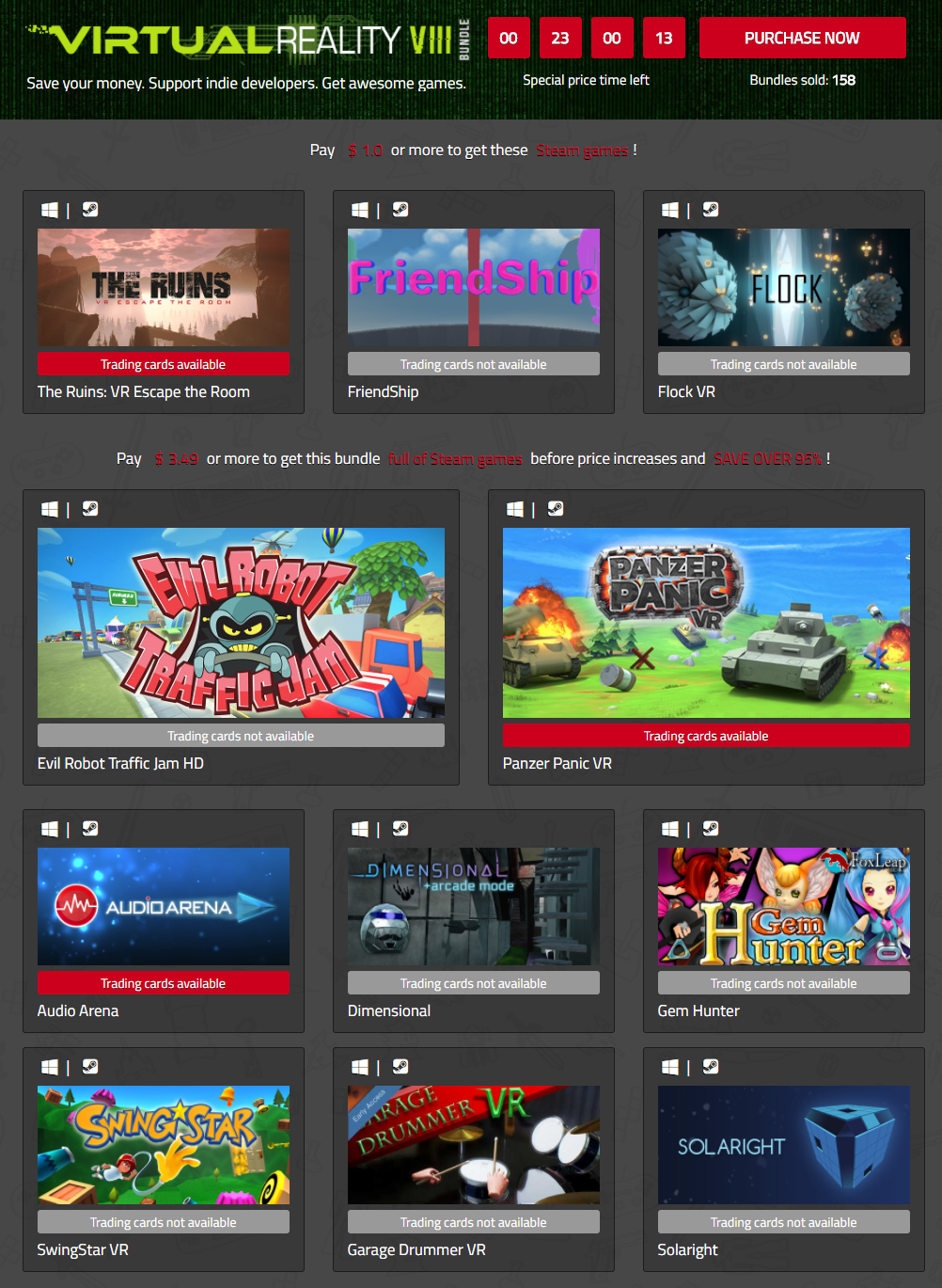 IndieGala Virtual Reality VIII Bundle of Steam games.png
