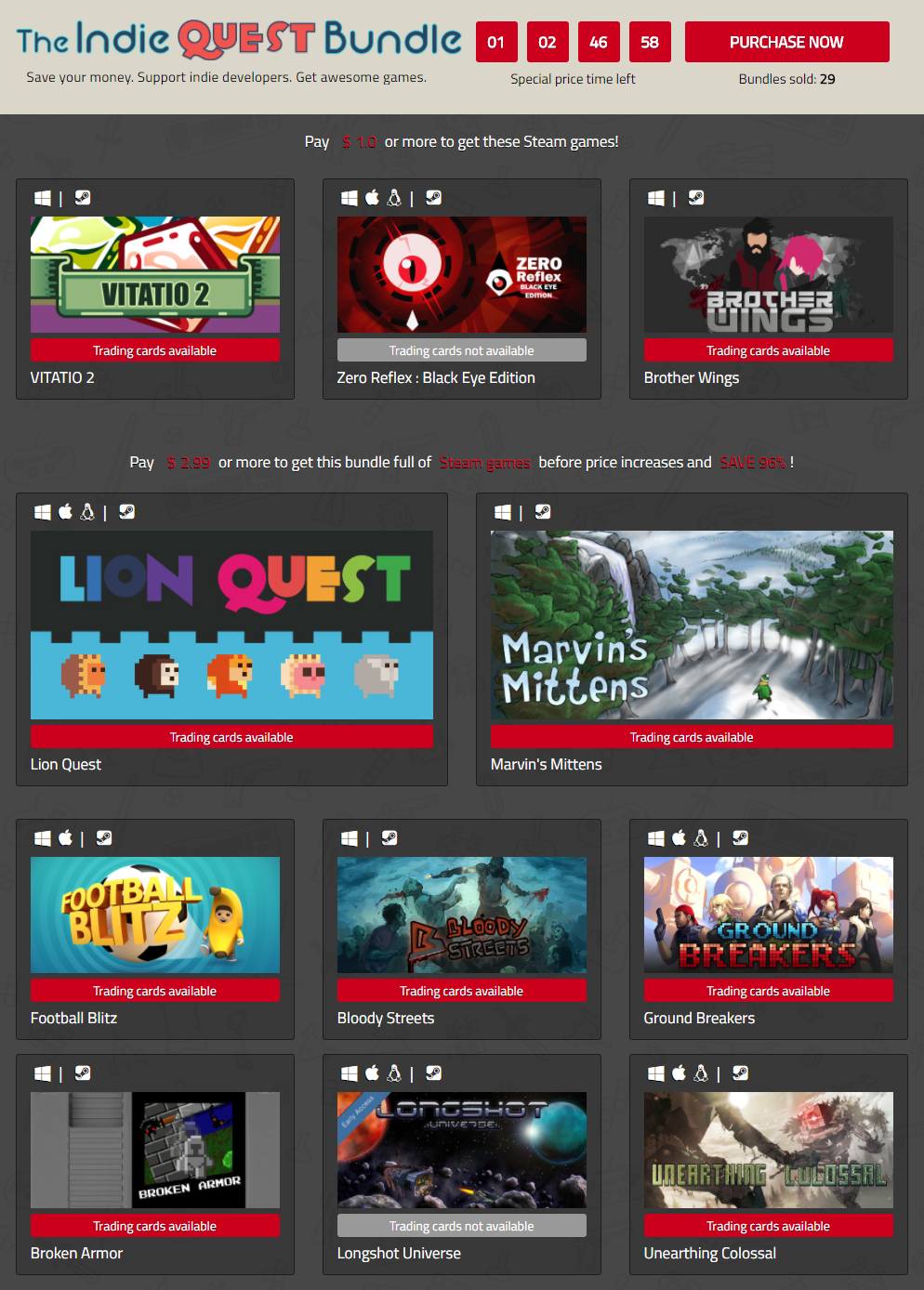 Indiegala Indie Quest Bundle of Steam games.png